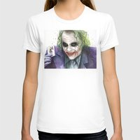 joker T-shirts featuring Joker  by Olechka