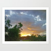 A Sunrise In Kentucky Art Print