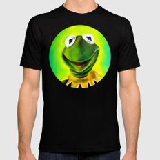 The Muppets- Kermit the Frog Black Mens Fitted Tee SMALL