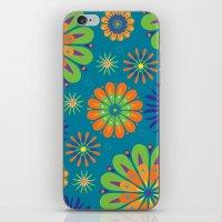 Psycho Flower Blue iPhone & iPod Skin