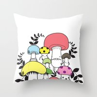 WELCOME TO MUSHROOM LAND… Throw Pillow