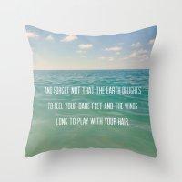 Oceanic Inspiration Throw Pillow