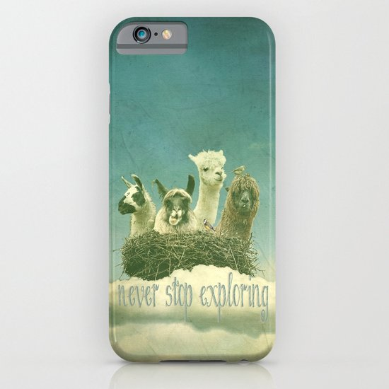 Never Stop Exploring iPhone & iPod Case