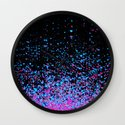 infinity in blue and purple Wall Clock