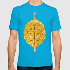 Pencil Brain Mens Fitted Tee Teal SMALL