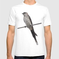 Red-Rumped Swallow Vecto… Mens Fitted Tee White SMALL