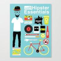 Hipster Essentials Canvas Print