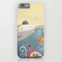 iPhone & iPod Case featuring Clovis talking to fish by Sonia Poli