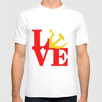 L O V E  Mens Fitted Tee White SMALL
