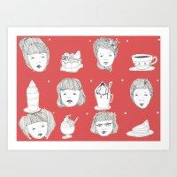 Sweet Girls Art Print