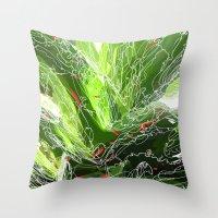 green explosion Throw Pillow