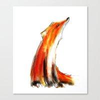 Wise Fox Reverse Canvas Print
