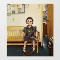 Loki Outside the Principal's Office Canvas Print