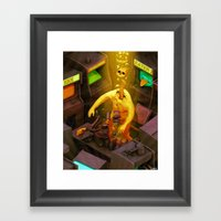 Abduction of the Arcade Fiend Framed Art Print