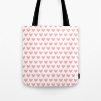 Coral Pink Watercolor He… Tote Bag