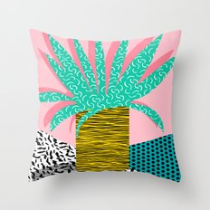 In The Mix - 80's Neon H… Throw Pillow