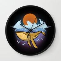 Purple Ocean Wall Clock