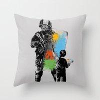 Turmoil Paint Throw Pillow