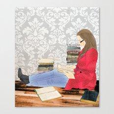 A studious world... Canvas Print