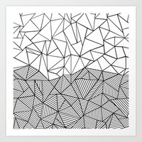 Ab Half N Half Art Print