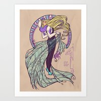 Spider Nouveau Art Print