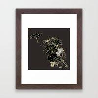 No couro! Framed Art Print