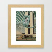 Hang Up The Phone Framed Art Print