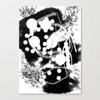 black whıte Canvas Print