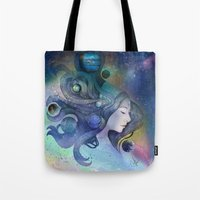 A thousand worlds on my mind Tote Bag