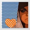 Heart on Her Sleeve Canvas Print