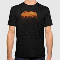 African Elephant Mens Fitted Tee Tri-Black SMALL