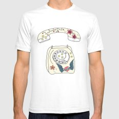 Phone love Mens Fitted Tee SMALL White