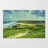Perranporth Headland  Canvas Print