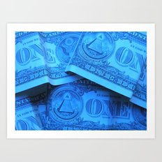 Four Crisp Dollar Bills Art Print
