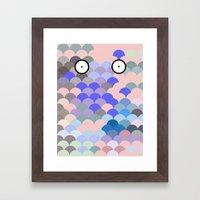 Fish Eyes Framed Art Print