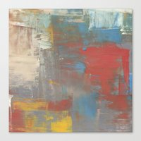Multicolor Brush Strokes Canvas Print