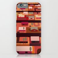 iPhone Cases featuring Downtown Desert by charker