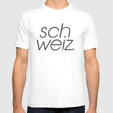 SCH White Mens Fitted Tee SMALL