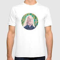 Lucius Malfoy Mens Fitted Tee White SMALL