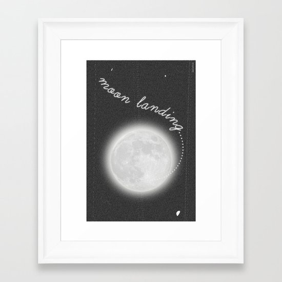 Moon Landing! Framed Art Print