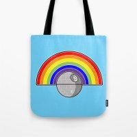 Death Star Rainbow Tote Bag