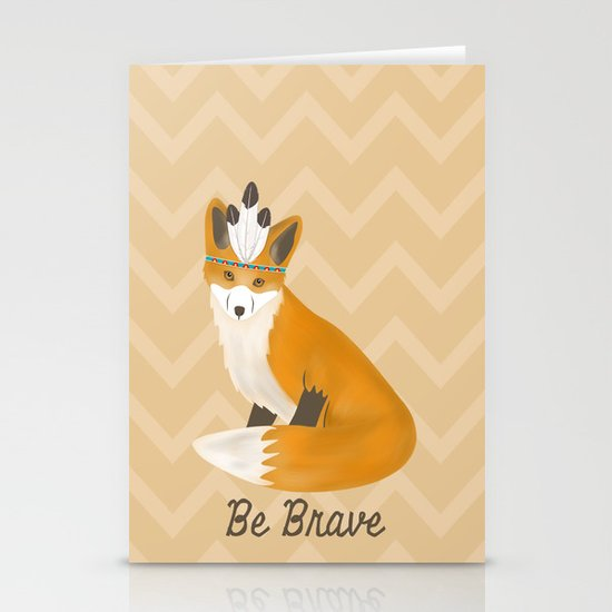Be Brave - Fox Native Stationery Card