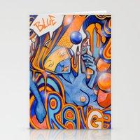 Blue-Orange Stationery Cards