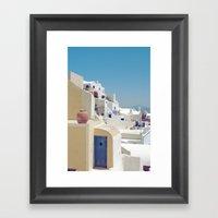 Santorini Door VIII Framed Art Print