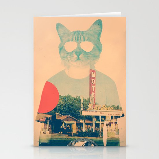 Cool Cat Stationery Card