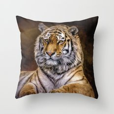Majestic Tiger Throw Pillow