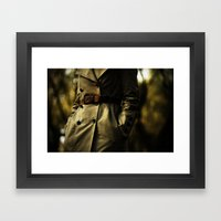 Casablanca Trench Framed Art Print