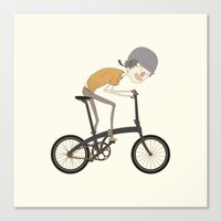 Riding Canvas Print