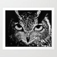 My Eyes Have Seen You (Owl) Art Print