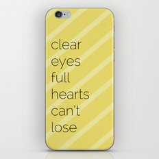 Clear Eyes, Full Hearts, Can't Lose-Friday Night Lights  v2.0 iPhone & iPod Skin
